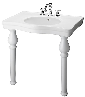 Barclay Vitreous China 34'' Console Bathroom Sink w/ Overflow