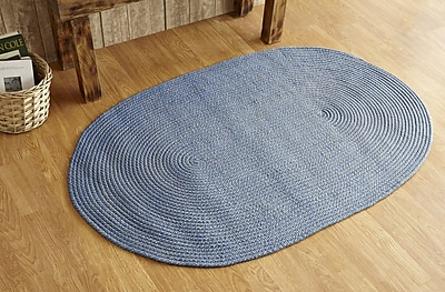 Better Trends Palm Spring Wedgewood Area Rug; 5' x 7'