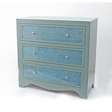 Teton Home 3 Drawer Wood Cabinet