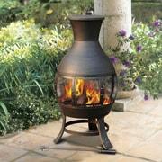 Sunjoy Clementine Steel Wood Burning Chiminea