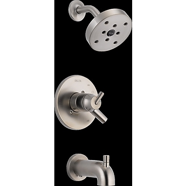 Delta Trinsic Bathroom Tub and Shower Faucet Trim w/ Lever Handle; Brilliance Stainless