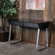 Home Loft Concepts Omega Writing Desk; Black