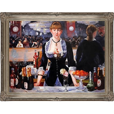 Tori Home A Bar at the Folies-Bergere by Edouard Manet Framed Painting Print on Wrapped Canvas