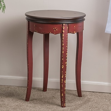 Home Loft Concepts Atherton End Table; Antique Red / Brown
