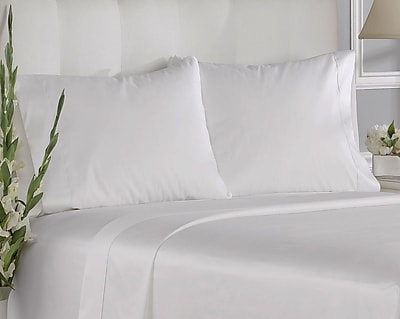 Aspire Linens 400 Thread Count Cotton Solid Pillowcases (Set of 2); King