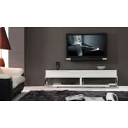 B-Modern Agent TV Stand; Black Glass