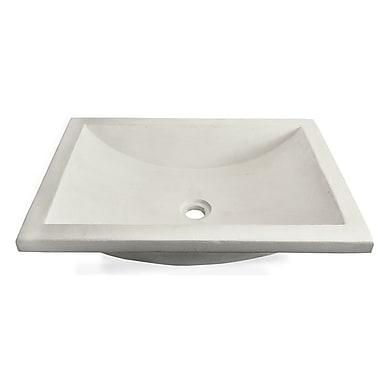 Native Trails Cabrillo Stone Rectangular Undermount Bathroom Sink