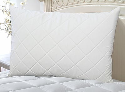 Perfect Fit Industries Wellrest Quilted Memory Foam Pad and Pillow Enhancer Set; King
