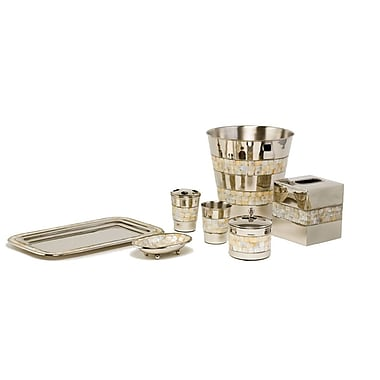 Paradigm Trends Mother of Pearl 7 Piece Bathroom Accessory Set