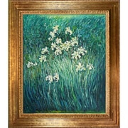 Wildon Home   Yellow Irises by Claude Monet Framed Painting