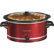 Hamilton Beach 8 Quart Oval Slow Cooker; Red