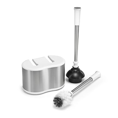 Polder Products LLC Dual Free Standing Toilet Brush Set; White