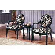BestMasterFurniture 3 Piece Traditional Accent Armchair Set