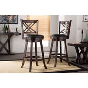 Wholesale Interiors Baxton Studio 29'' Swivel Bar Stool (Set of 2)