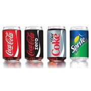 Luminarc 16 oz. Glass Coca-Cola Can 4-Piece Set