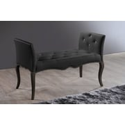 Wholesale Interiors Baxton Studio Wood Bench; Black
