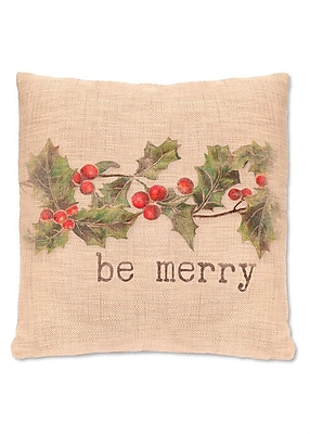 Heritage Lace Holly be Merry Pillow Cover; 12'' H x 20'' W