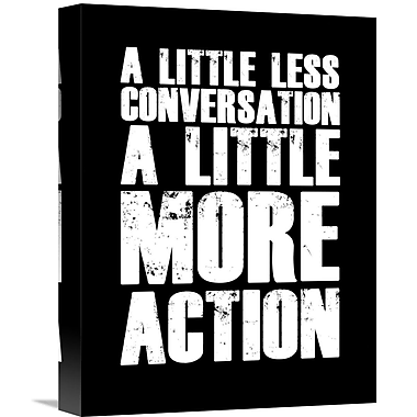 Naxart 'A Little More Action Poster' Textual Art on Wrapped Canvas; 16'' H x 12'' W x 1.5'' D
