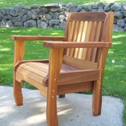 WoodCountry Cabbage Hill Stacking Patio Dining Chair; Cedar Stain
