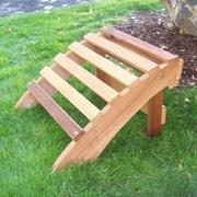 WoodCountry T&L Ottoman; Cedar Stain