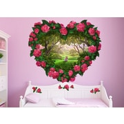 Wall-Ah! Heart Fantasy Flowers Wall Decal