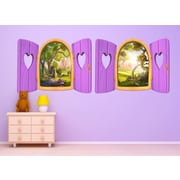 Wall-Ah! Heart Window Wall Decal