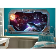 Wall-Ah! Galactic Battle Window Wall Decal