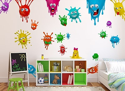 Wall-Ah! Silly Splats Wall Decal