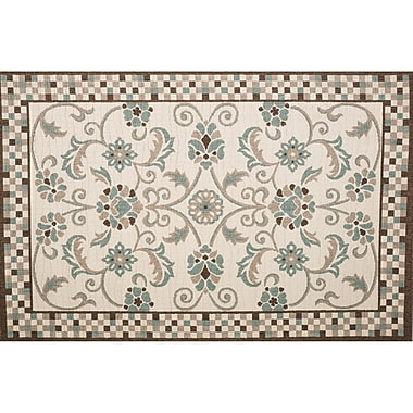 Home Loft Concepts Roxanne Candiss Brown/Blue Area Rug; 7'10'' x 9'10''