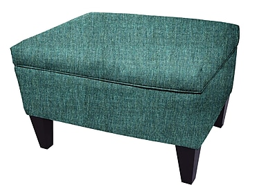 MJLFurniture Olivia Storage Ottoman; Teal