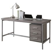 "Monarch I 7345 3-Drawer Computer Desk 60"" Long, Dark Taupe"
