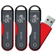 Lexar - Clé USB TwistTurn 8 Go, version spéciale : 25e anniversaire de Bureau en Gros, paq./3