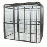 A&E Cage Co. Medium Walk Bird Aviary; Black
