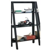 InRoom Designs 43'' Leaning Bookcase; Black