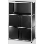 Infinita Corporation System4 Simpli 48'' Standard Bookcase; Black