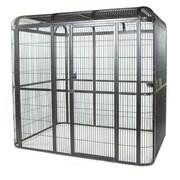 A&E Cage Co. Small Walk Bird Aviary; Black