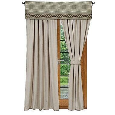 Wooded River Rain Single Single Curtain Panel
