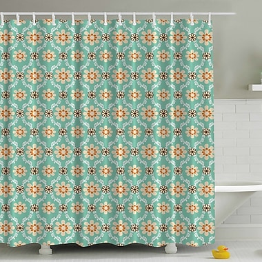 Ambesonne Old Fashioned Flowers Print Shower Curtain