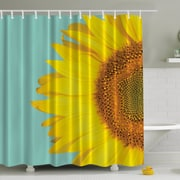 Ambesonne Sunflower Naked Print Shower Curtain