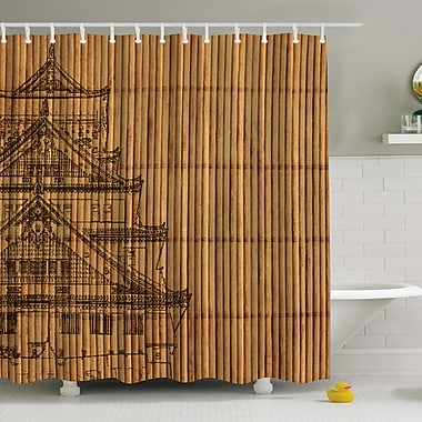 Ambesonne Japanese Reed Print Shower Curtain