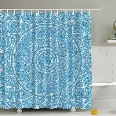 Ambesonne Lace Print Shower Curtain
