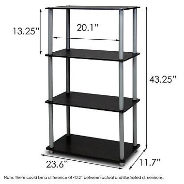 Wildon Home 43'' Etagere Bookcase; Black/Gray