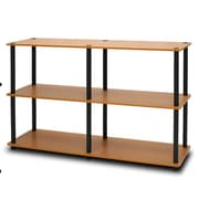 Wildon Home   29'' Etagere Bookcase; Light Cherry / Black