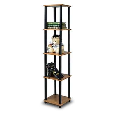 Wildon Home 57'' Etagere Bookcase; Light Cherry / Black