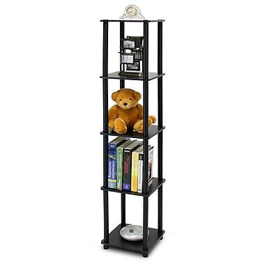 Wildon Home Etagere Bookcase; Espresso / Black