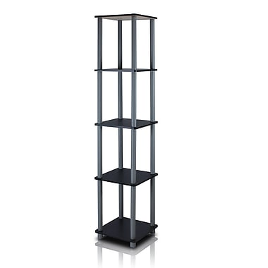 Wildon Home Etagere Bookcase; Black/Grey