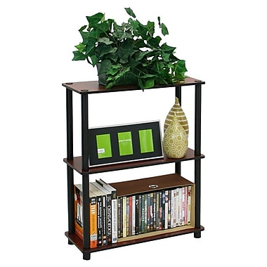 Wildon Home Etagere Bookcase; Dark Cherry / Black