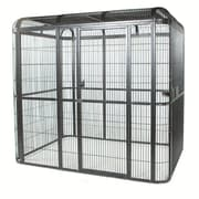 A&E Cage Co. Large Walk Bird Aviary; Black