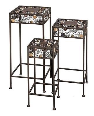 Cole & Grey 3 Piece Nesting Plant Stand Set