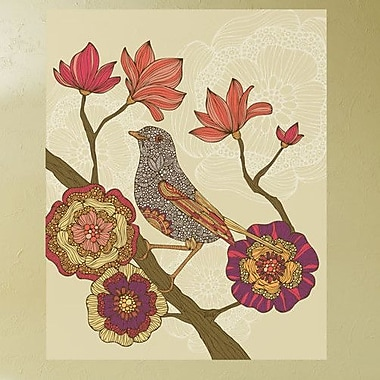 My Wonderful Walls Floral Bird on Branch Art Wall Decal; Large